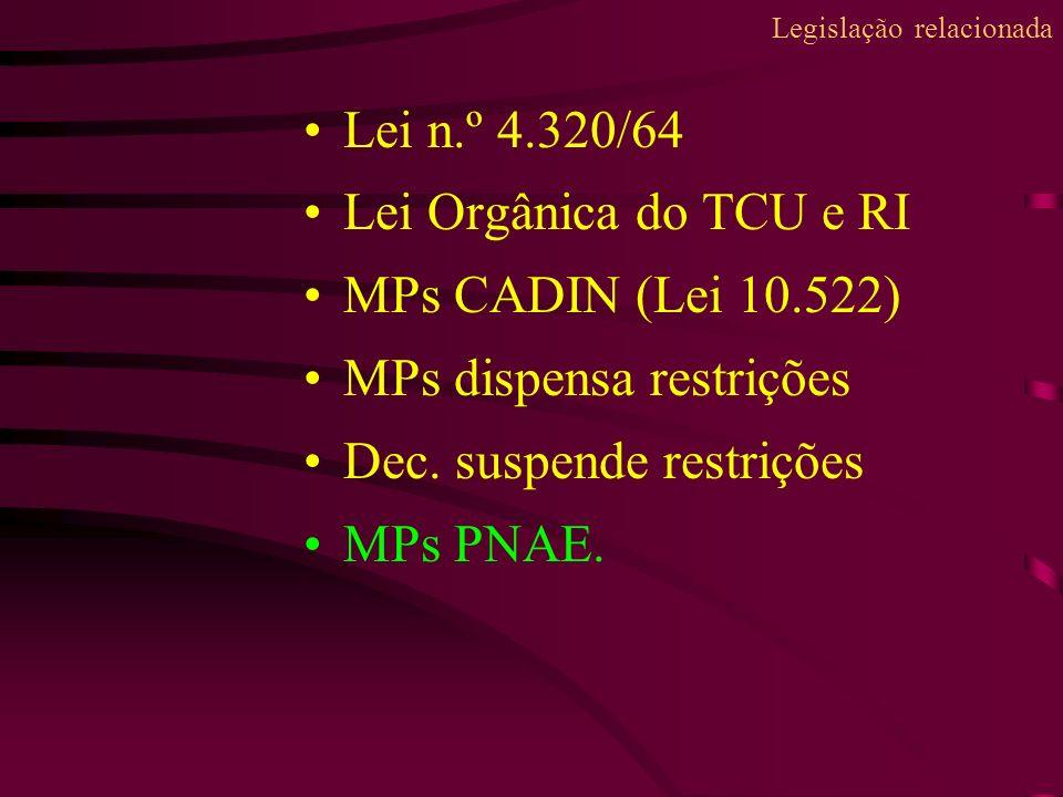 Legislação relacionada