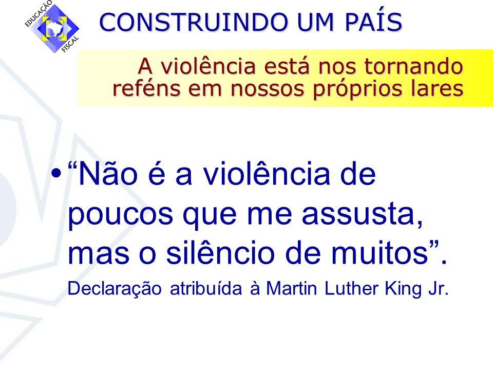 A violência está nos tornando reféns em nossos próprios lares