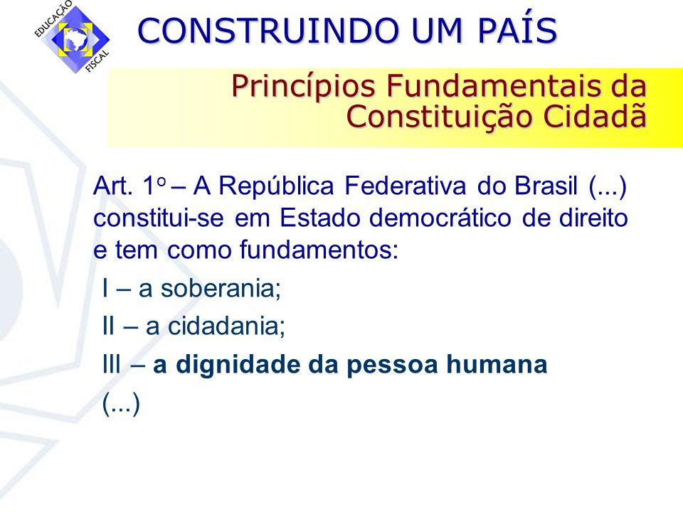 Princípios Fundamentais da Constituição Cidadã
