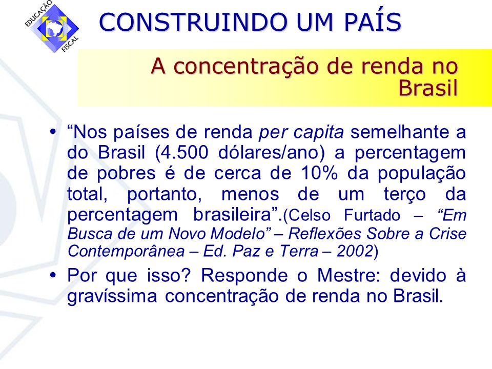 A concentração de renda no Brasil