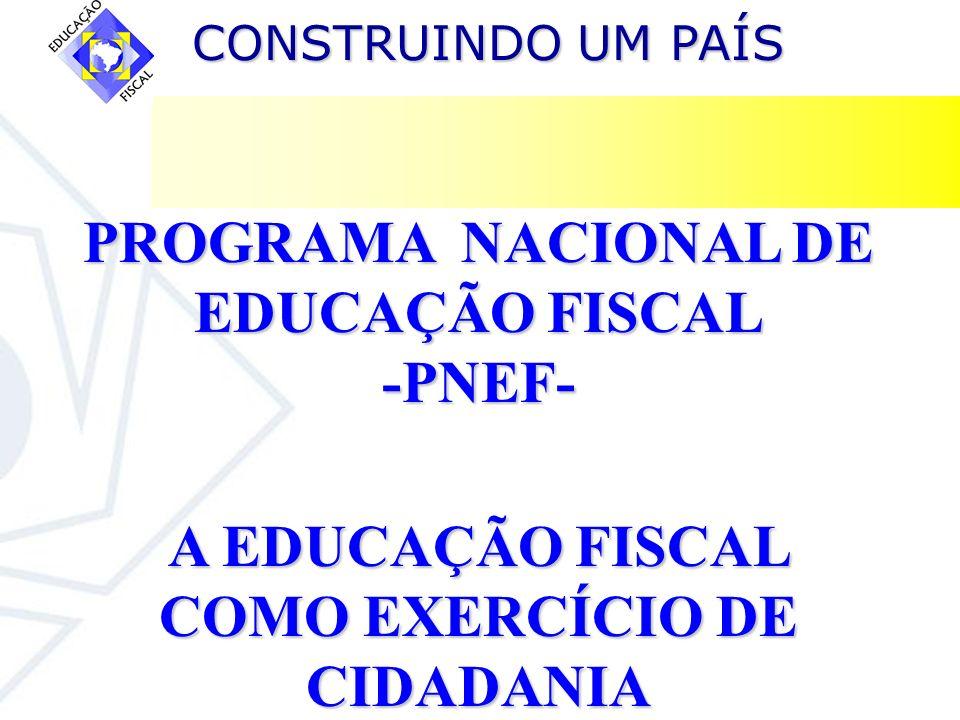 A EDUCAÇÃO FISCAL COMO EXERCÍCIO DE CIDADANIA