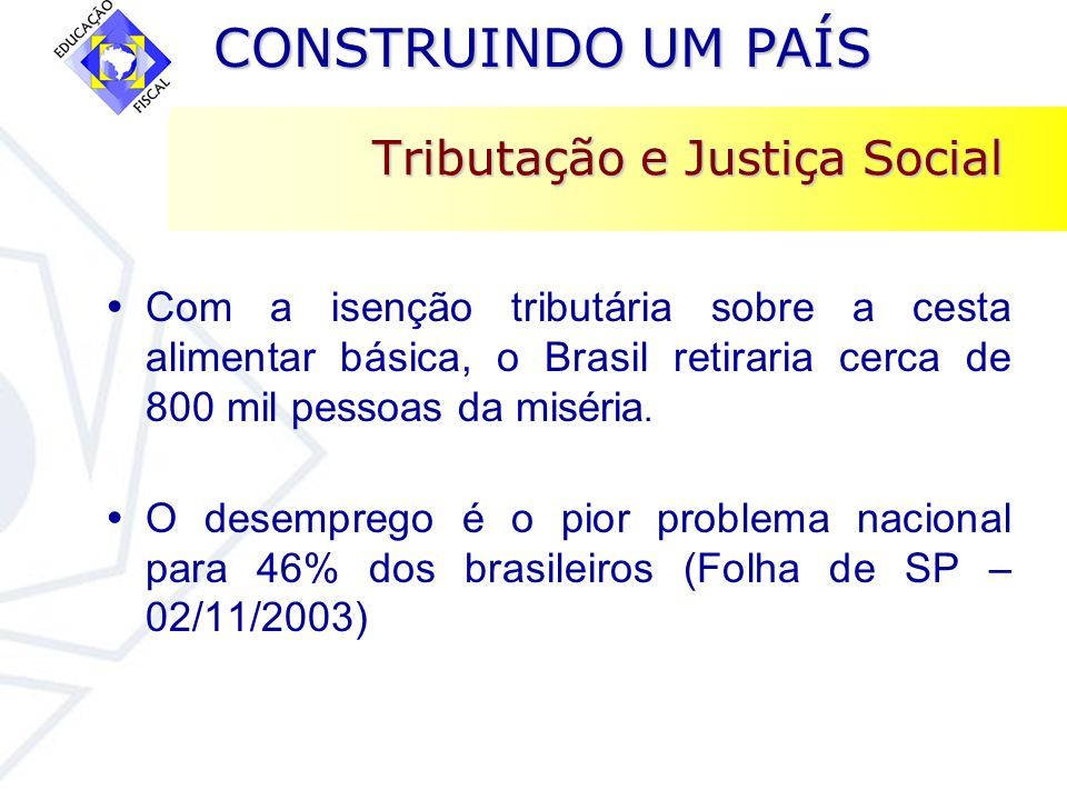 Tributação e Justiça Social
