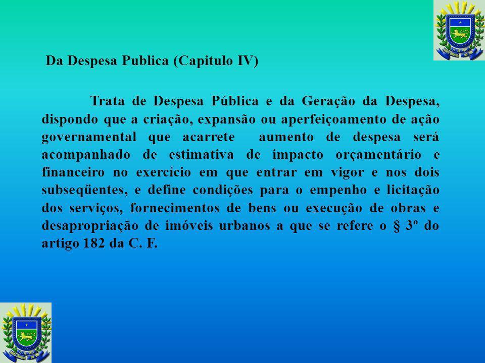 Da Despesa Publica (Capitulo IV)