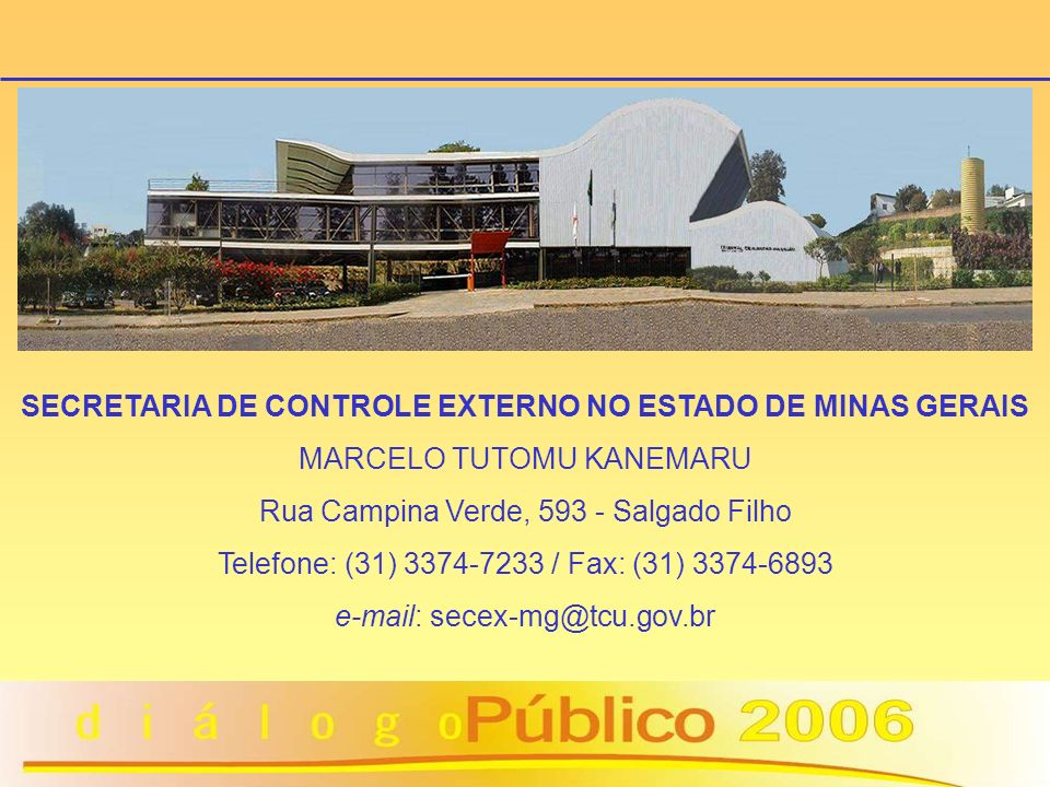 SECRETARIA DE CONTROLE EXTERNO NO ESTADO DE MINAS GERAIS
