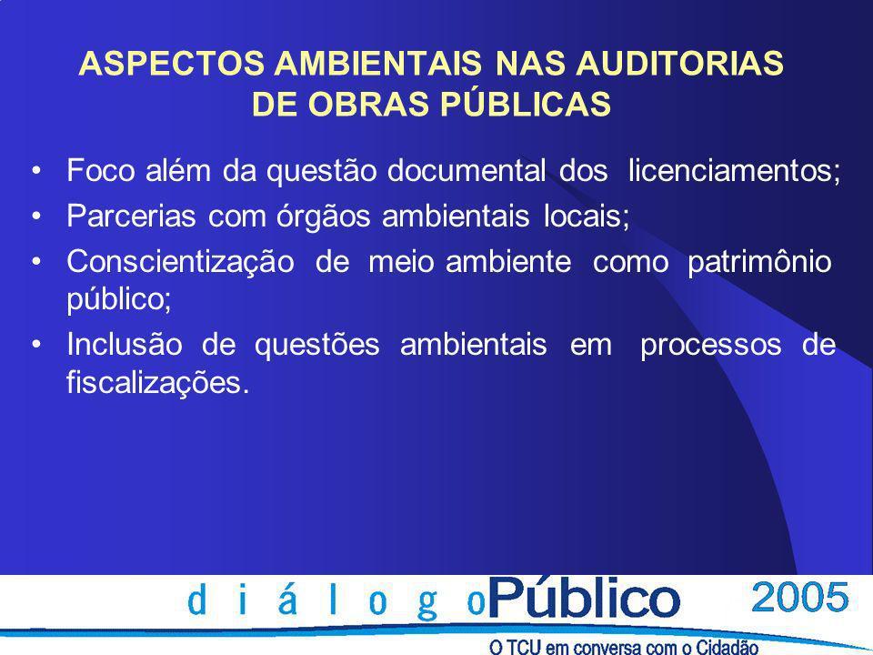 ASPECTOS AMBIENTAIS NAS AUDITORIAS DE OBRAS PÚBLICAS