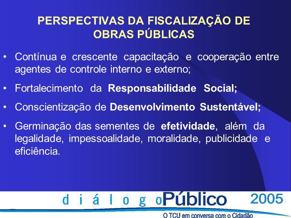 PERSPECTIVAS DA FISCALIZAÇÃO DE OBRAS PÚBLICAS
