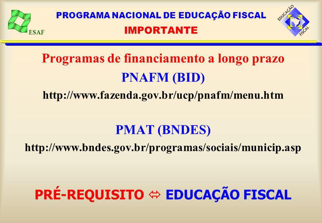 PROGRAMA NACIONAL DE EDUCAÇÃO FISCAL IMPORTANTE
