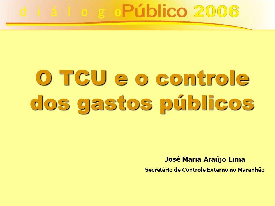 O TCU e o controle dos gastos públicos