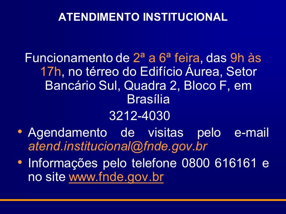 ATENDIMENTO INSTITUCIONAL