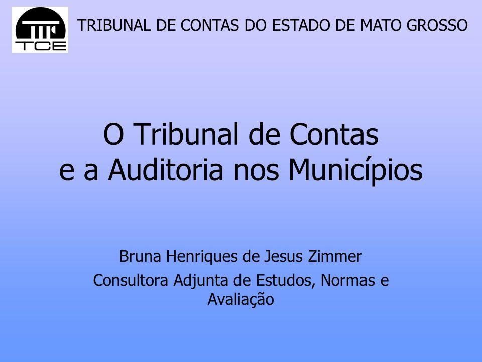 O Tribunal de Contas e a Auditoria nos Municípios