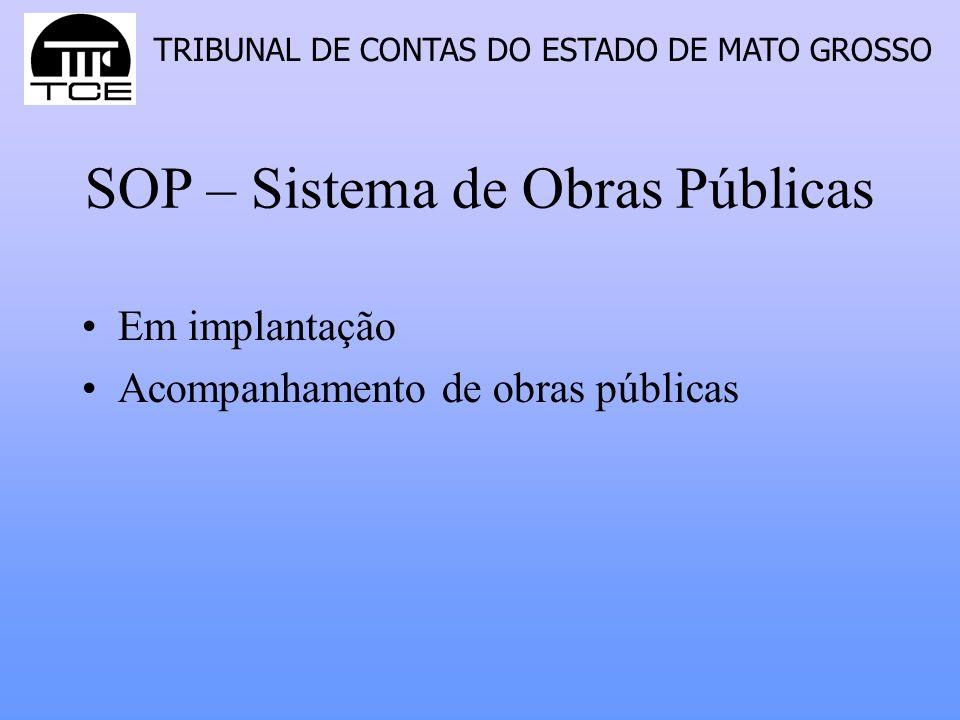 SOP – Sistema de Obras Públicas