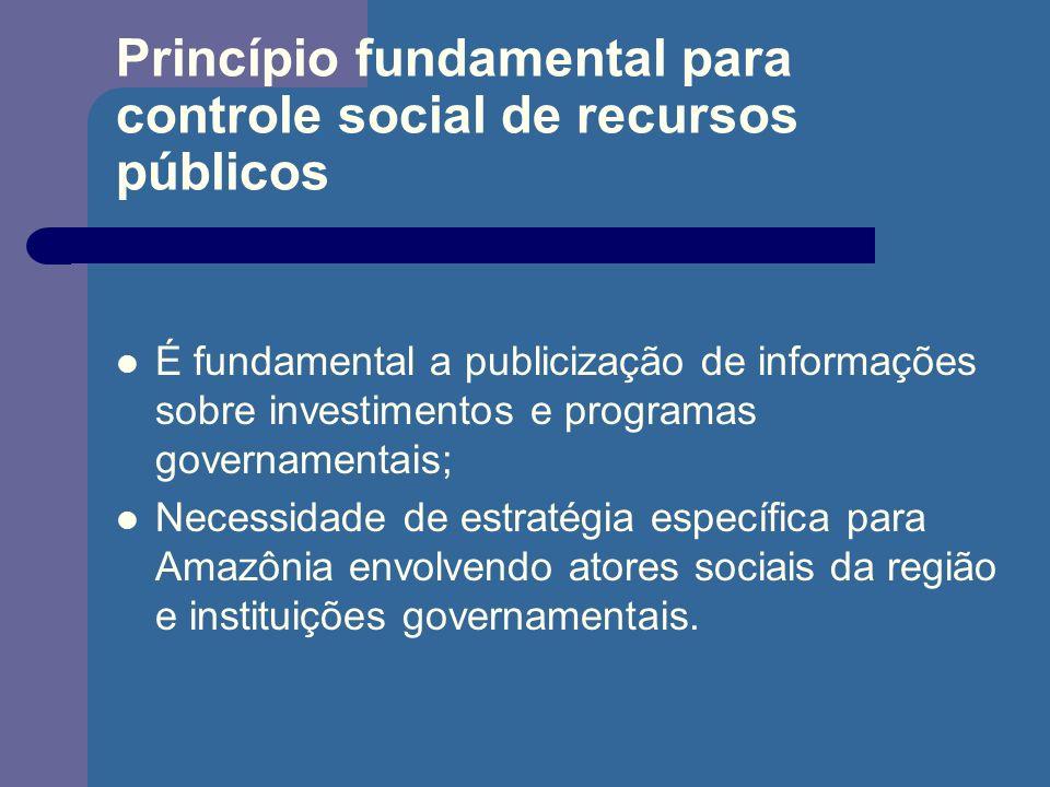 Princípio fundamental para controle social de recursos públicos