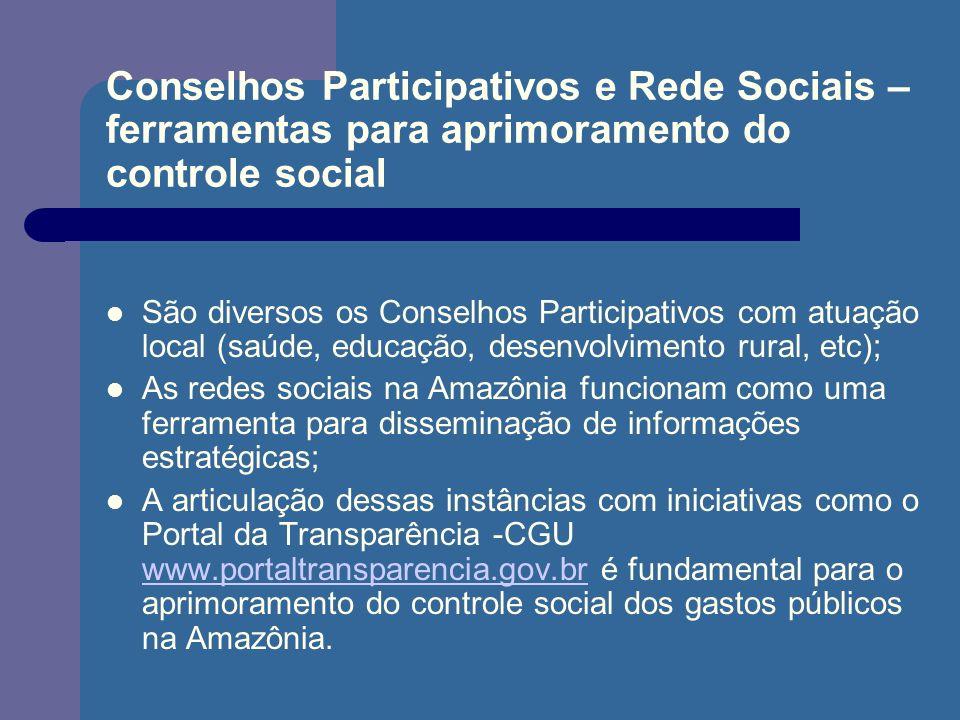 Conselhos Participativos e Rede Sociais – ferramentas para aprimoramento do controle social