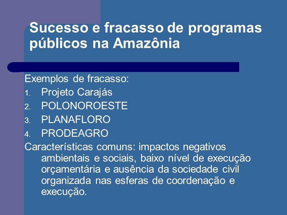 Sucesso e fracasso de programas públicos na Amazônia