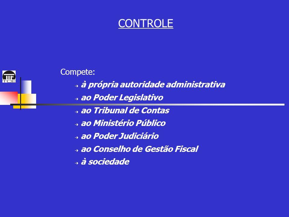 CONTROLE Compete: à própria autoridade administrativa