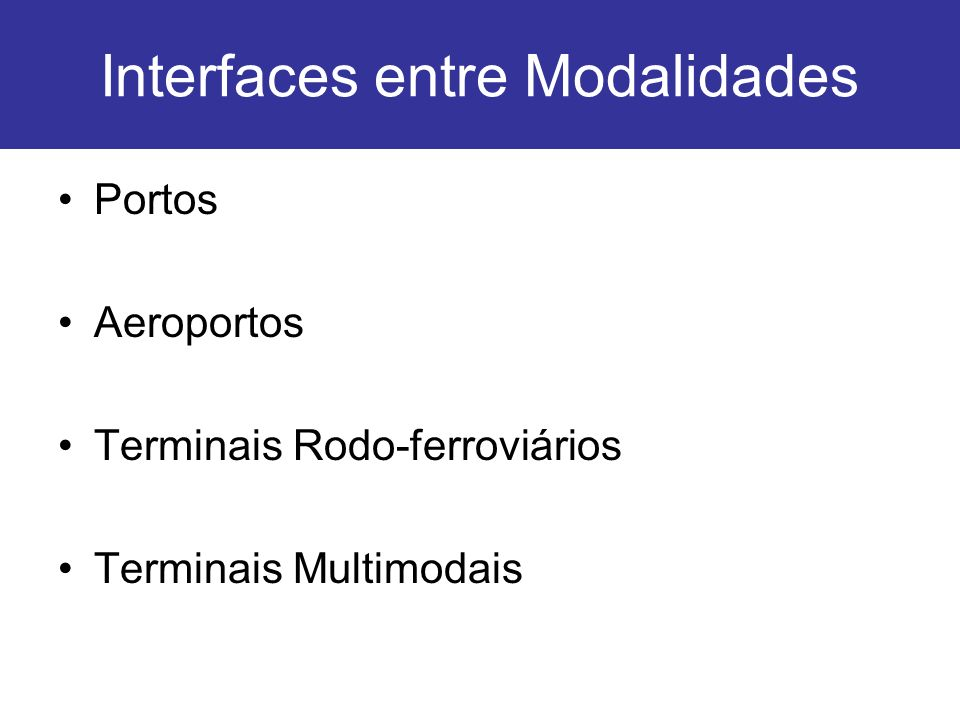 Interfaces entre Modalidades
