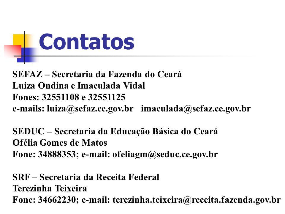 Contatos SEFAZ – Secretaria da Fazenda do Ceará