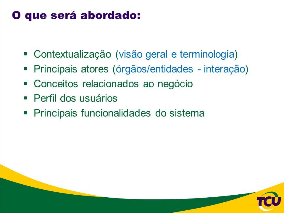 O que será abordado: Contextualização (visão geral e terminologia)