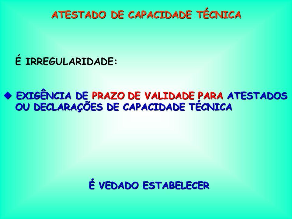 ATESTADO DE CAPACIDADE TÉCNICA