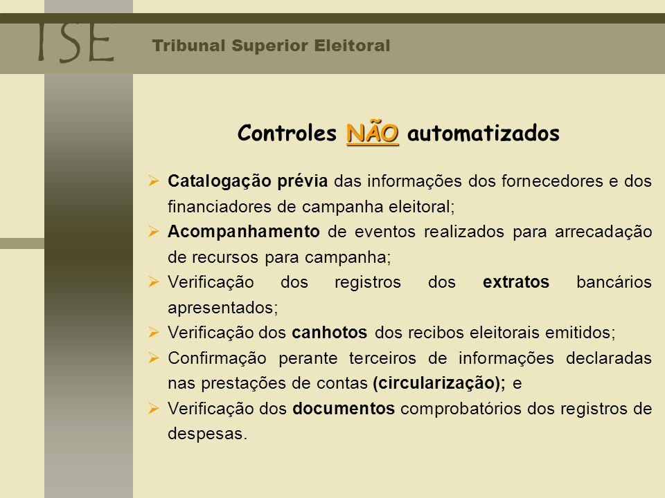 Controles NÃO automatizados