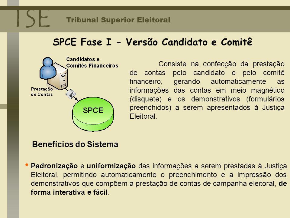 SPCE Fase I - Versão Candidato e Comitê