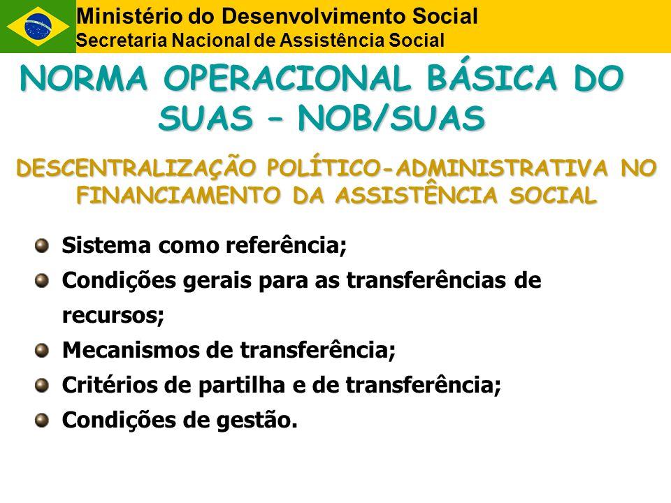 NORMA OPERACIONAL BÁSICA DO SUAS – NOB/SUAS