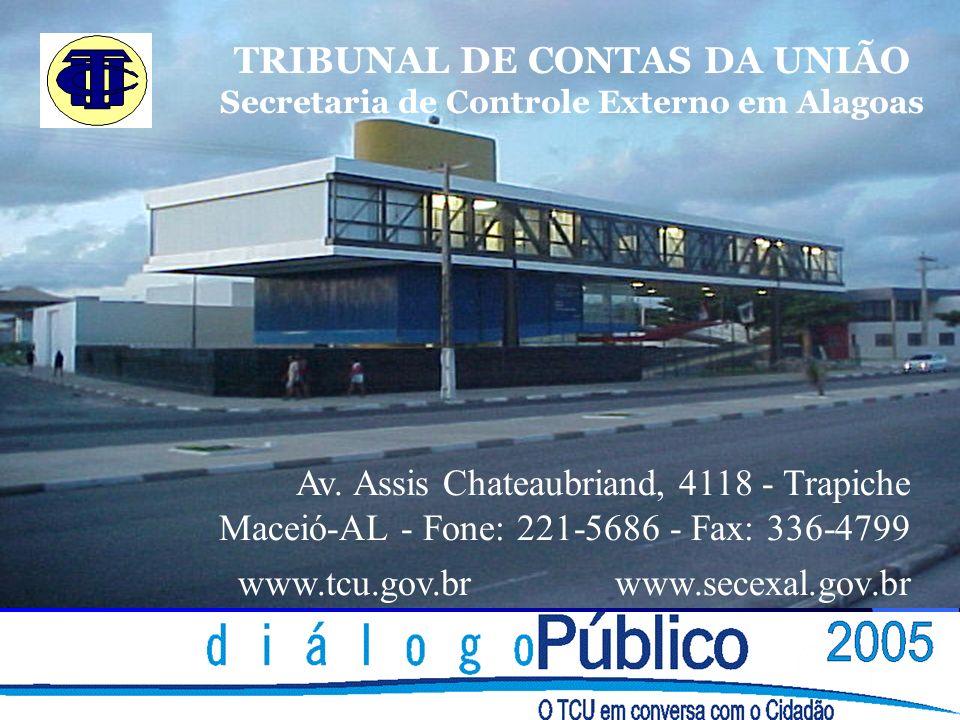 TRIBUNAL DE CONTAS DA UNIÃO Secretaria de Controle Externo em Alagoas