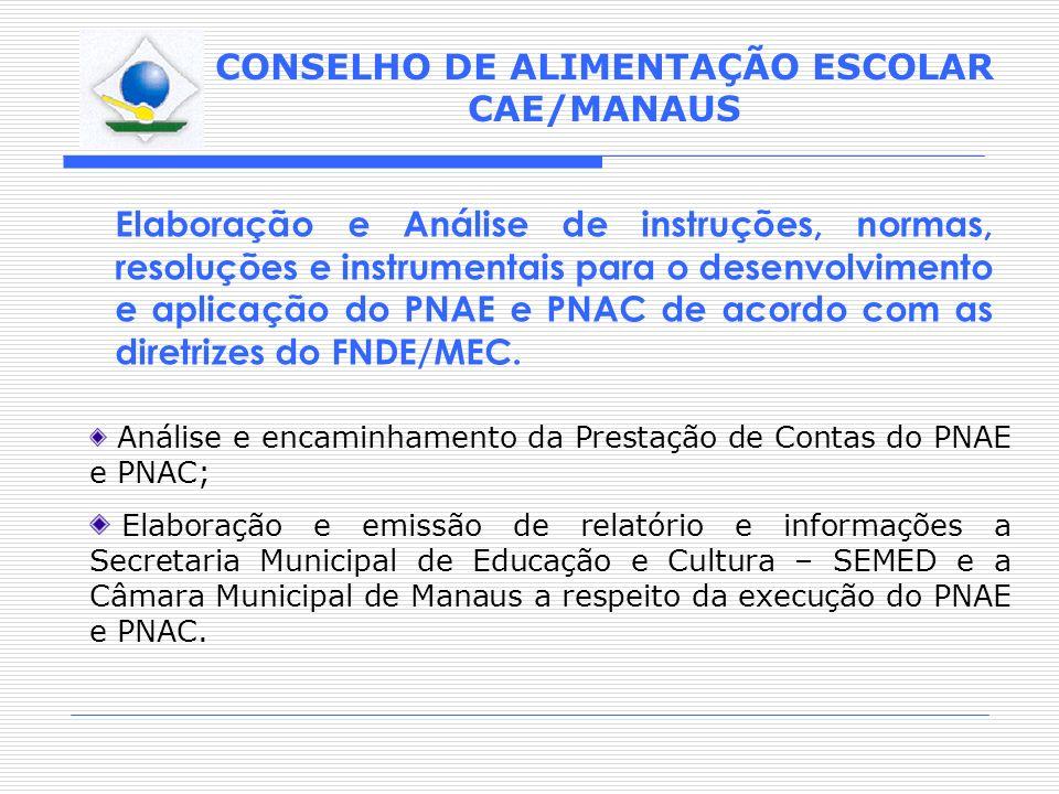 Elaboração e Análise de instruções, normas, resoluções e instrumentais para o desenvolvimento e aplicação do PNAE e PNAC de acordo com as diretrizes do FNDE/MEC.
