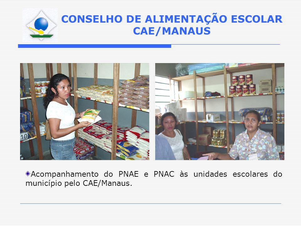 Acompanhamento do PNAE e PNAC às unidades escolares do município pelo CAE/Manaus.