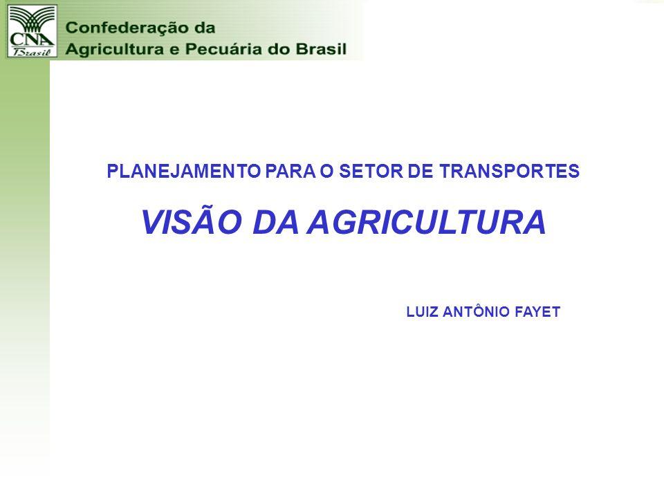 PLANEJAMENTO PARA O SETOR DE TRANSPORTES