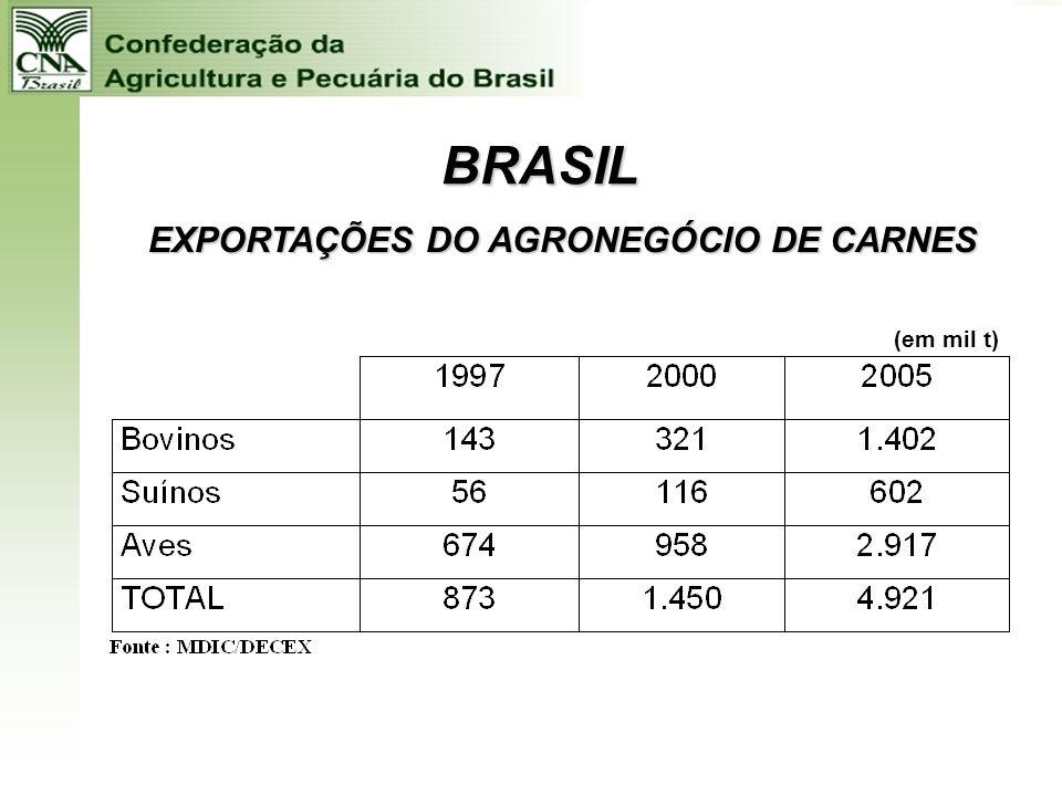 EXPORTAÇÕES DO AGRONEGÓCIO DE CARNES
