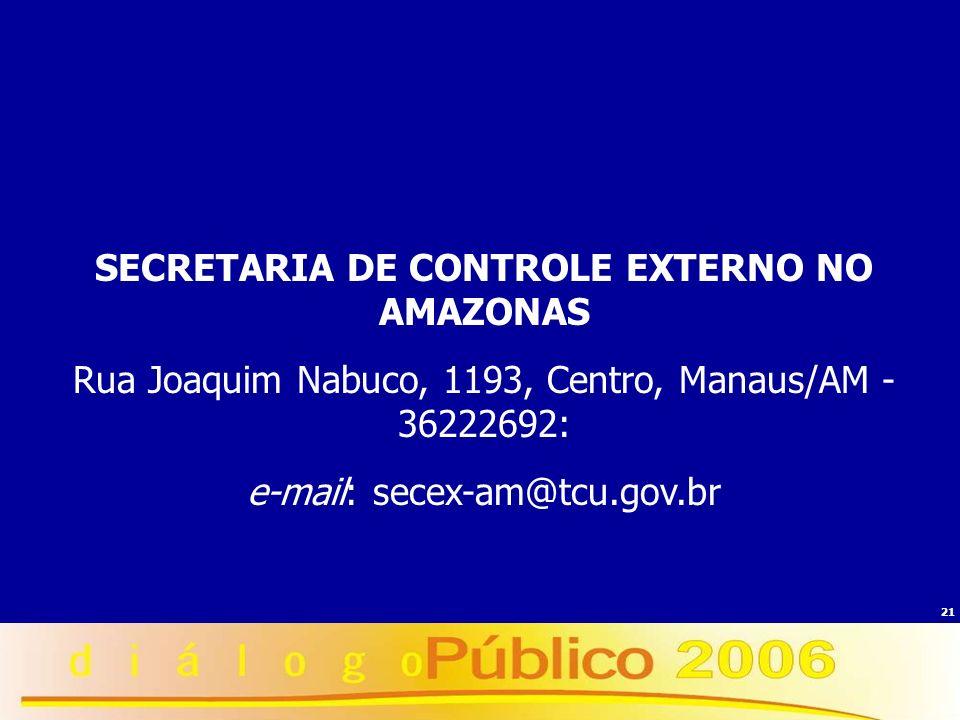 SECRETARIA DE CONTROLE EXTERNO NO AMAZONAS