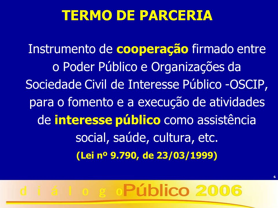 TERMO DE PARCERIA