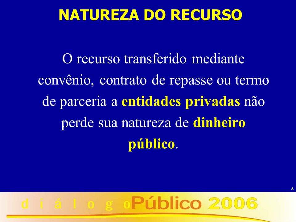 NATUREZA DO RECURSO
