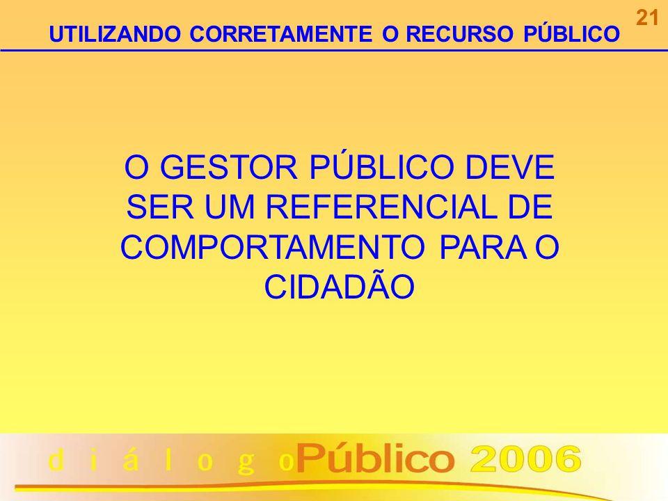 UTILIZANDO CORRETAMENTE O RECURSO PÚBLICO