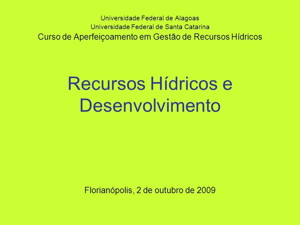 Recursos Hídricos e Desenvolvimento