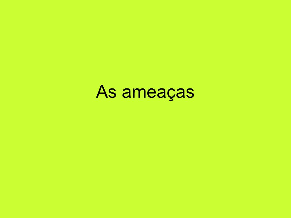 As ameaças