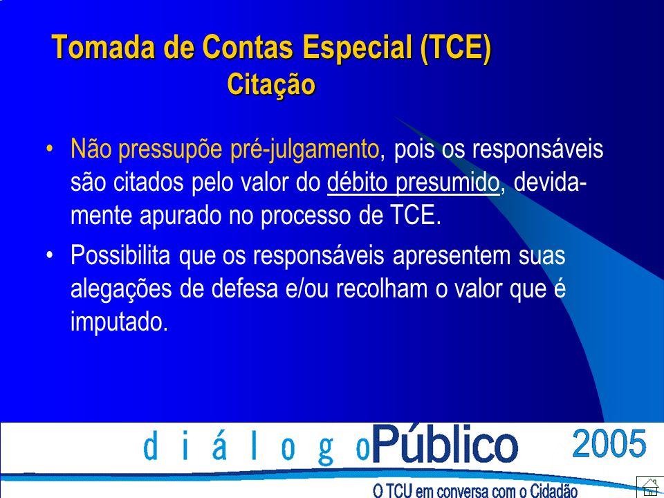 Tomada de Contas Especial (TCE) Citação
