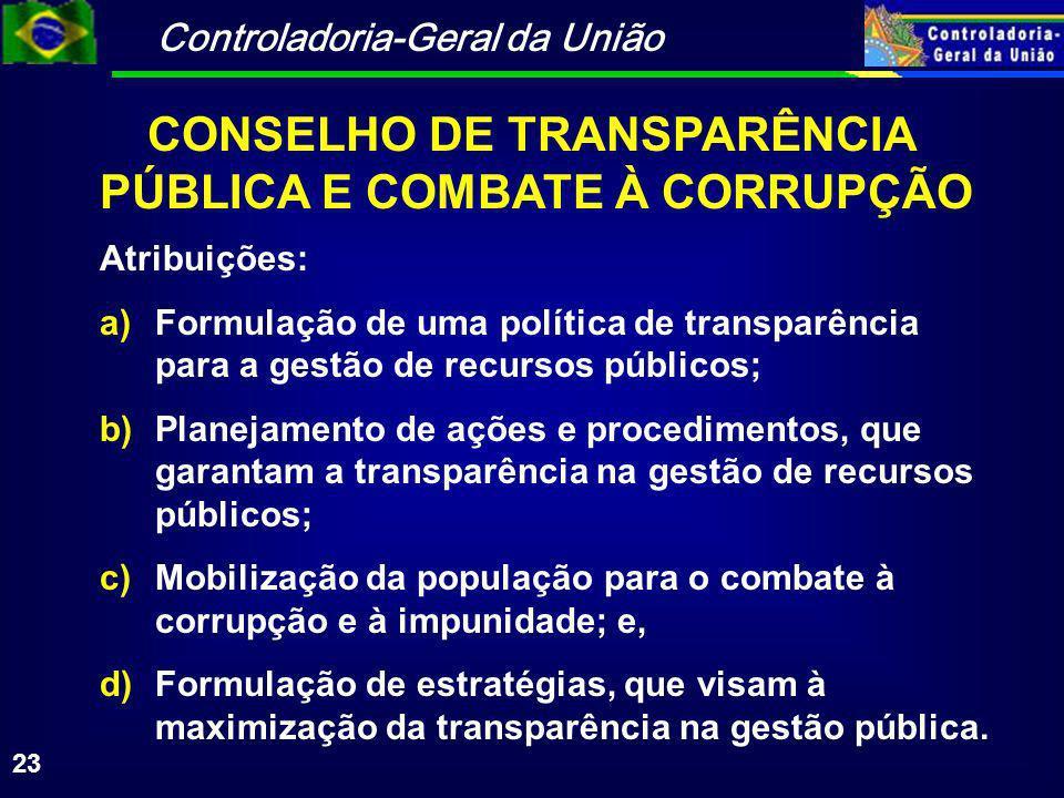 CONSELHO DE TRANSPARÊNCIA PÚBLICA E COMBATE À CORRUPÇÃO