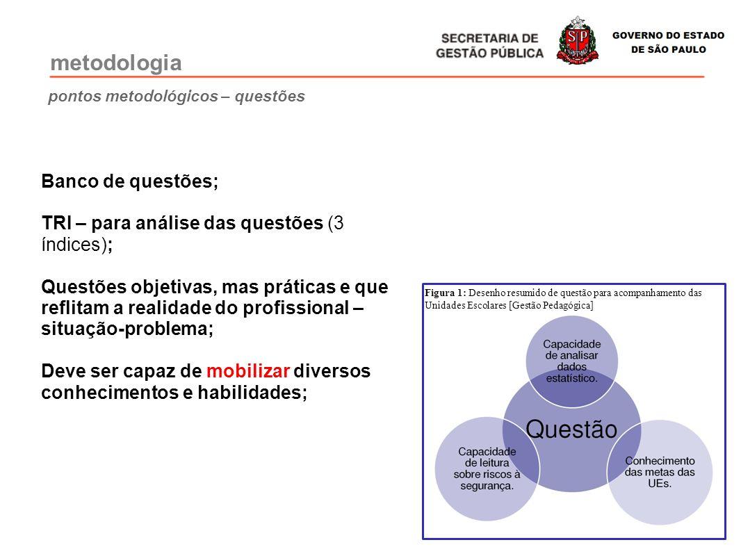 pontos metodológicos – questões