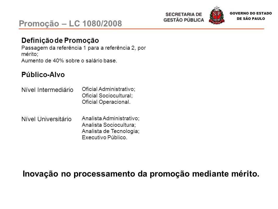 Inovação no processamento da promoção mediante mérito.