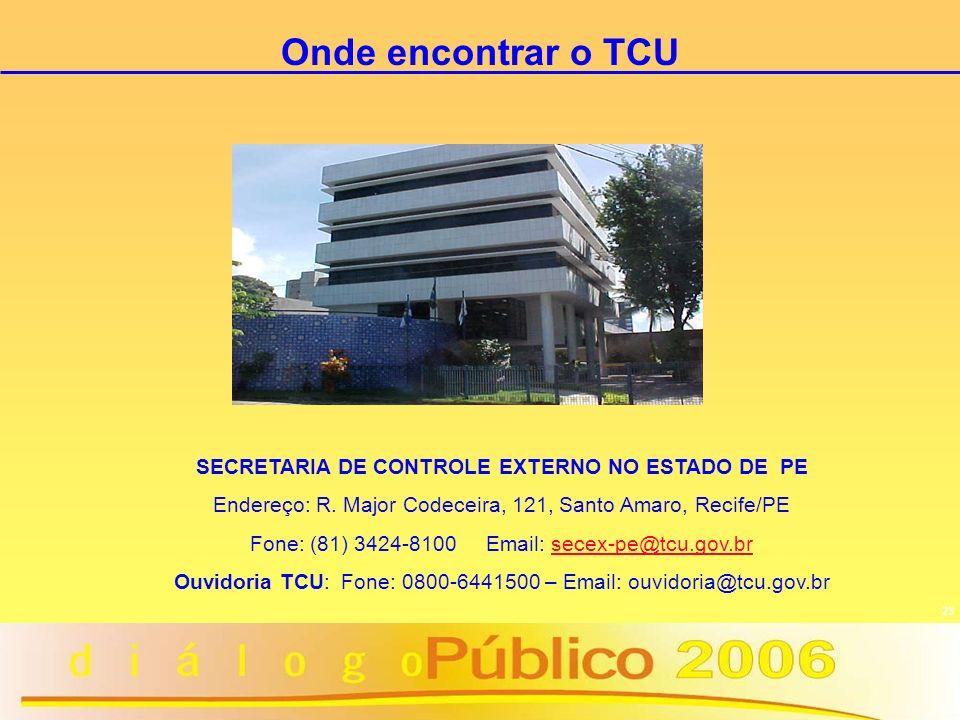 SECRETARIA DE CONTROLE EXTERNO NO ESTADO DE PE