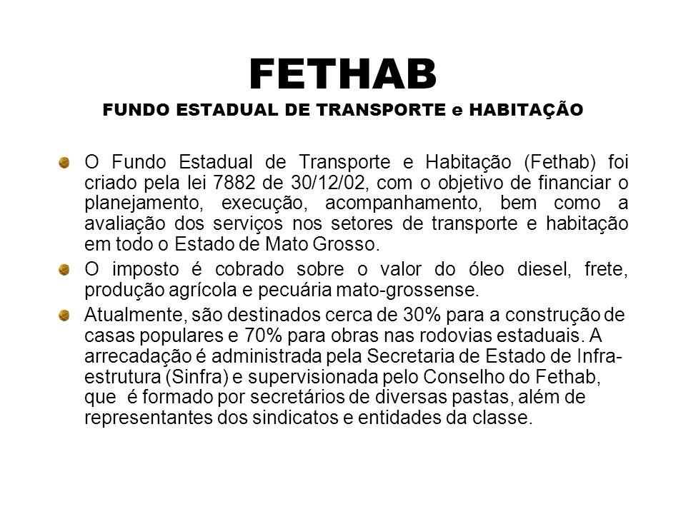 FETHAB FUNDO ESTADUAL DE TRANSPORTE e HABITAÇÃO