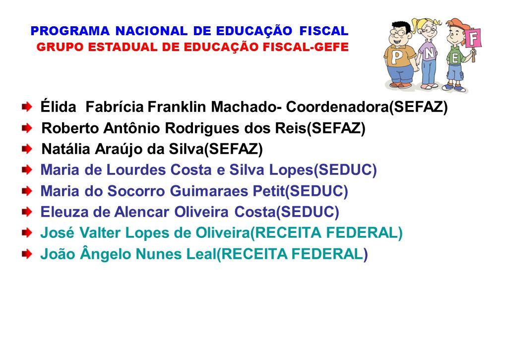 Élida Fabrícia Franklin Machado- Coordenadora(SEFAZ)