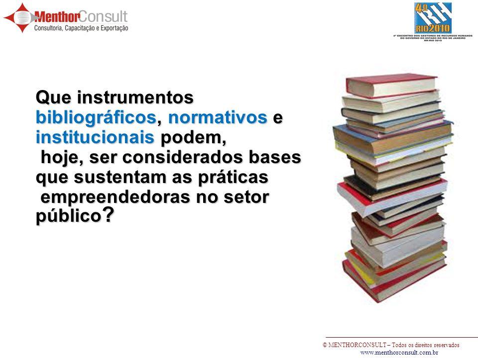 Que instrumentos bibliográficos, normativos e institucionais podem,