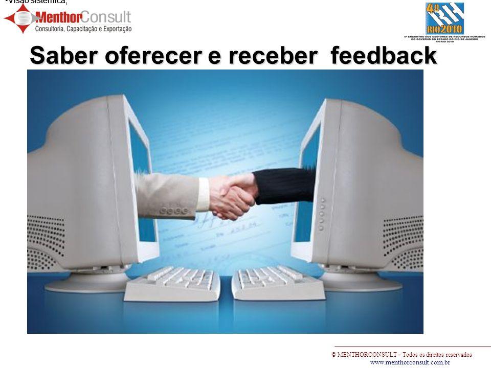 Saber oferecer e receber feedback