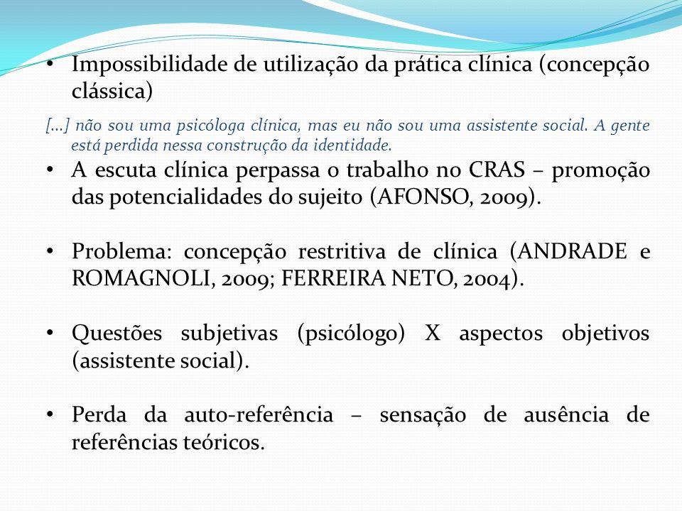 Impossibilidade de utilização da prática clínica (concepção clássica)