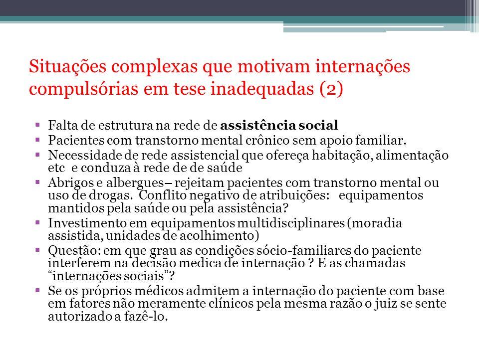 Situações complexas que motivam internações compulsórias em tese inadequadas (2)