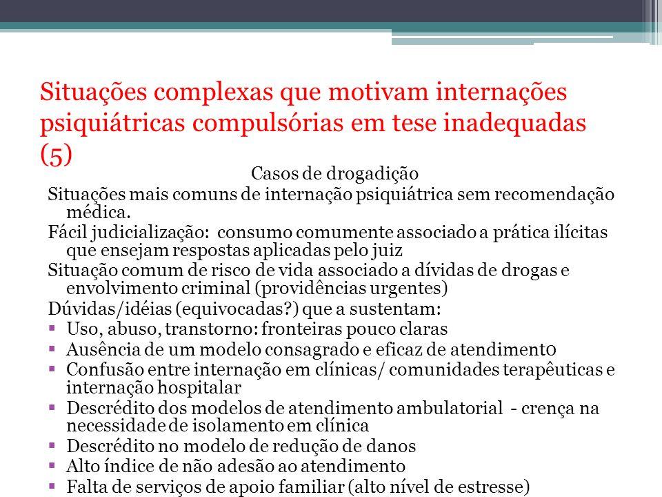 Situações complexas que motivam internações psiquiátricas compulsórias em tese inadequadas (5)