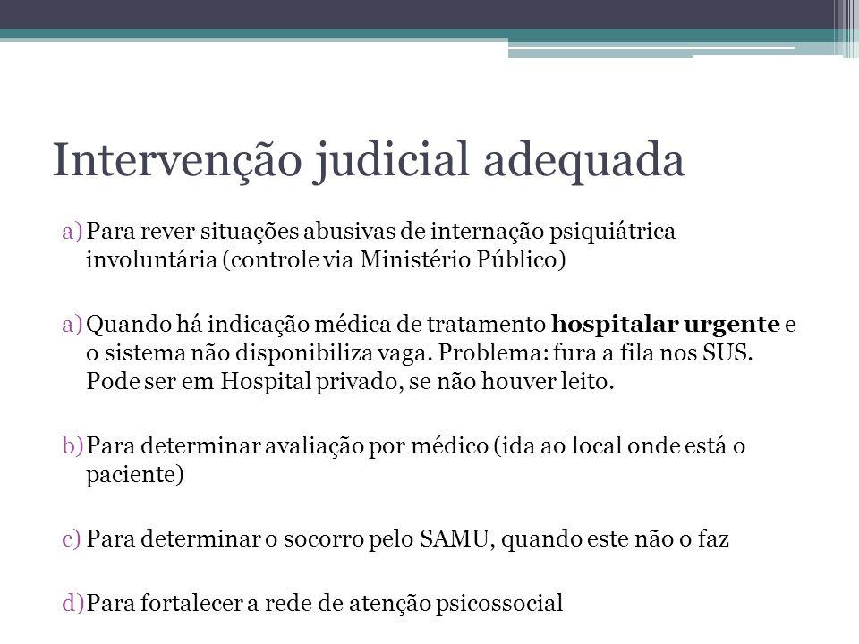 Intervenção judicial adequada